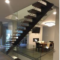 China Classic european style black stair steel tread staircase wholesale