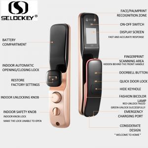 China Cat Eye Door Bell Smart Face Fingerprint Automatic Front Door Locks on sale