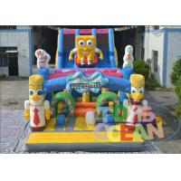 China 16m Super Inflatable Spongebob Bouncy Castle Slide EN14960 0.55 PVC wholesale
