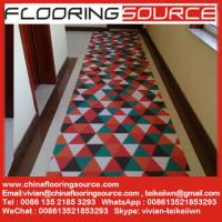 China PVC Loop Coil Printed Carpet Mat for entrance and wet areas use without back or foam back or firm back wholesale