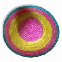 China Hawaiian Straw Hat in Adult Sizes, Available in Multi-color wholesale