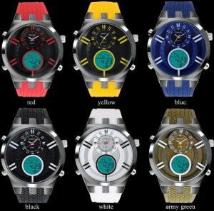 Quality Wholesale Multifunction Waterproof 30M Dual Display Chronograph Alarm Men Sport for sale