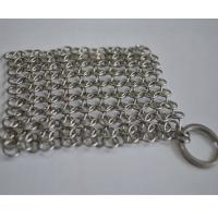 China Round Stainless Steel Ring Mesh / Chainmail Scrubber For Cleaning Kitchenware wholesale