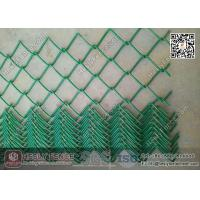 China Green Color PVC coated Chain Link Fence   50X50mm mesh aperture   3.8mm Wire wholesale