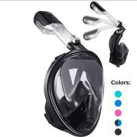 China Dry Top Set Full Head Snorkel Mask Easy Breathing With Liquid Silicone Material wholesale