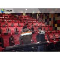 Extraordinary Sound Vibration 4D Movie Theater With Black Vibration Chairs