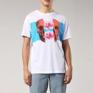 China Custom White Summer Men T Shirt Digital Printing Skull Style O Neck 100% Cotton on sale