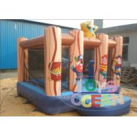 China Underwater World Inflatable Bouncy Castle Small Pirate House With Free Repair Kit wholesale