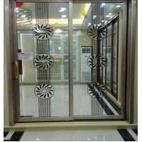 China Bathroom 2ND Hand Aluminium Glass Sliding Doors Frosted Waterproof Sound Insulation wholesale