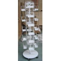China Modern heavy duty leaflets spinning magazine display stand rack stand with 24 pockets wholesale