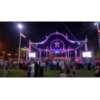Quality 6 Pillar Silver /B12x10x7m With 3 TONS Loading Stage Lighting Truss System For Event for sale