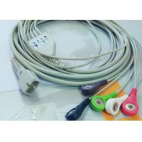 MEK 6 Pin Patient Monitor Accessories One Piece ECG Cable 5 Leads
