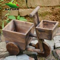 China Wood Car Cute Flower Planter for Indoor and Outdoor wholesale