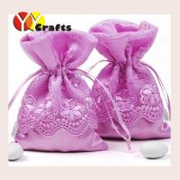 China Lace silk wedding candy bags , wedding party decorations chocolate packaging bags wholesale