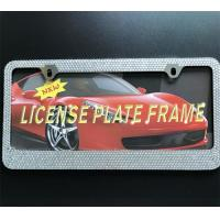 China Rhinestone Diamond Bling Crystal License Plate Frame , Girly License Plate Frames on sale