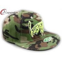 Quality 3D Embroidered Cotton Camouflage Baseball Hats Flat Brim Baseball Cap for sale