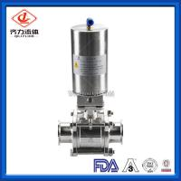 China 3PC  Hygienic Ball Valve Low Pressure PTFE Sealing High Polished Dust Proof on sale