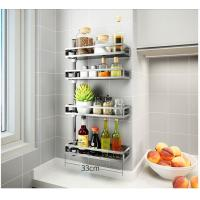 China Adjustable Height Bathroom Storage Rack Plastic O - Ring For Keep Smooth wholesale