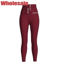 China Red 89cm Latex Yoga Pants High Waisted Compression Leggings S Size wholesale