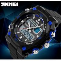 China New Domineering Style Men Double Time Waterproof 50M Chronograph Alarm Outdoor Sport Wrist Watch 1092 wholesale