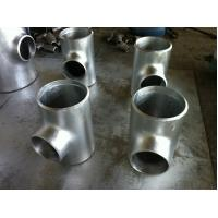 China 9.53mm Wall Thickness galvanized reducing tee , threeway steel pipe connector wholesale