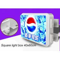 China Double Sided Rectangular Vacuum Forming Light Box For Outdoor Advertising 40x60cm wholesale
