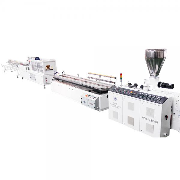 Quality 2m/min Pvc Profile Production Line ISO9001 Plastic Products Making Machine for sale