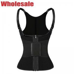 China Black Magical Velcro Neoprene Exercise Vest Women'S Workout Sweat Vest wholesale