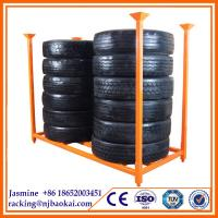 China Tire display stand rack,20 year service life,well-sold in Europe steel tire stacking racks for industry wholesale