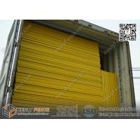 Yellow Portable temporary fencing