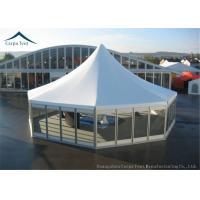 China High Peak Glass Wall Big Marquee Tents  5m By 5m With  Wooden Floor wholesale