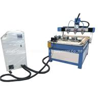 China 3 Heads 3 Rotary Axis Wood Metal Stone CNC Engraving Cutting Machine wholesale