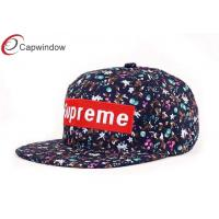 China Floral Flat Fitted Baseball Hats Cute Baseball Caps For Women wholesale