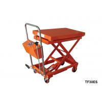 China Stationary Lift Table With Scale , Foot Pump Hydraulic Scissor Lift Cart wholesale