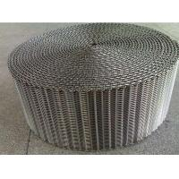 Buy cheap 304 Stainless Steel Mesh Conveyor Belt , Pressed Steel Wire Conveyor Belt Custom from wholesalers