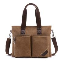 China Business Retro Male Laptop Oblique Cross Shoulder Bag With 2 Front Pockets wholesale