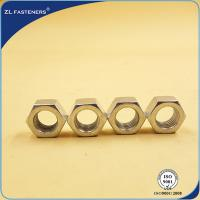 China DIN934 Zinc Plated  Steel Hex Nut Grade 4.8 Plain Finish For Car Parts wholesale
