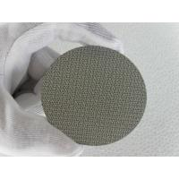 China 10 micron Sintered metal 304 stainless steel filter mesh screen/mesh filter disc on sale