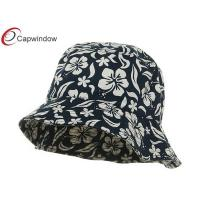 China Blue New Hawaiian Pattern Fisherman Bucket Hat with Pure Cotton Fabric wholesale