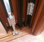 Thermal Break Entrance Aluminum Folding Glass Door Accordion Sliding Closed