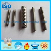 Buy cheap Coiled Slotted Spring Pin,Tooth type roll pin,Tooth type slotted pin,Tooth type spring pin,Stainless steel roll pin,Pin from wholesalers