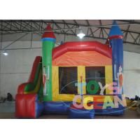 China Rainbow Small Jumping Inflatable Bounce House With Slide For Kids Indoor Play wholesale