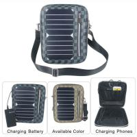 Quality 5W Water Resistan Solar Charging Backpack With Solar Panel Black Color for sale