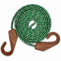 China 17 x 60cm Rubber Flat Bungee Cord with Black Plastic Hooks, OEM Orders are Welcome wholesale