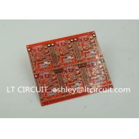 China 3'' U Gold Plating Multilayer PCB FR4 Printed Circuit Board Red Solder Mask wholesale