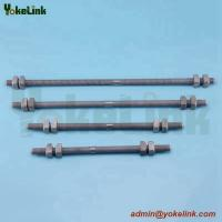 China Hot dip galvanized All Threaded Rods /Double Arming Bolts with nut on sale