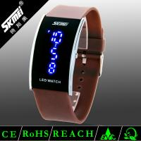 3 atm water resistant unisex colorful pu band led digital