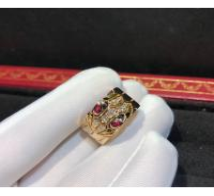 China Glamorous 18K Gold Ruby And Diamond Ring , Serpenti Ring wholesale