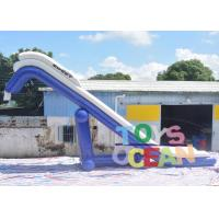Quality Blue And White PVC Inflatable floating Water Yacht Slide For Boat And Adult for sale