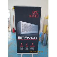 China Table Top Retractable Display Banners Signs For Exhibitions / Shop Promotions wholesale